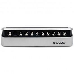 Автовизитка для парковки с номером телефона BlackMix